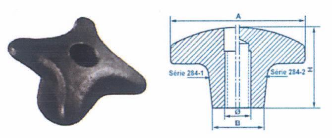 Écrous à croisillon (Trou borgne)