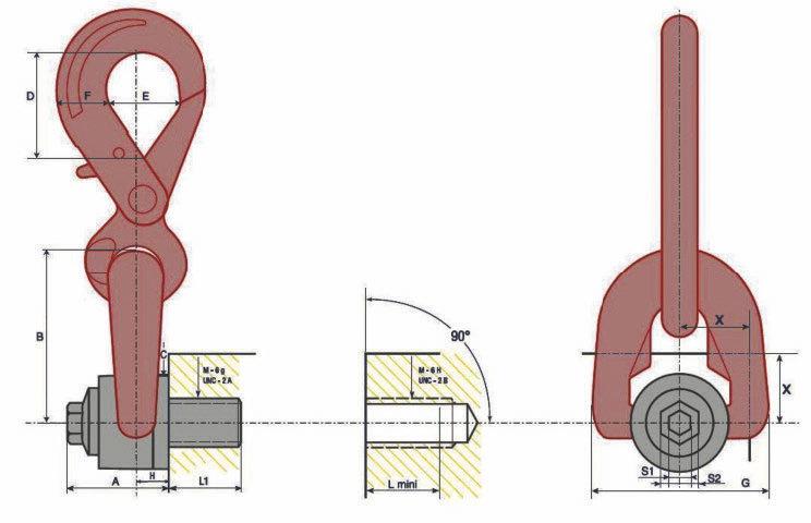 Anneaux double pivot à crochet
