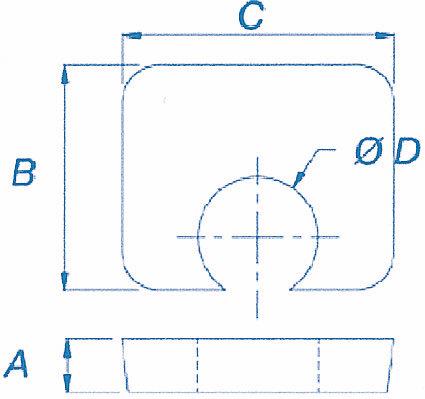 Cales de réglage BF1 - BG1 - BH1 pour crapauds évidés et plats