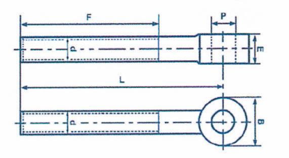 Chapes DIN 444 - Forme B