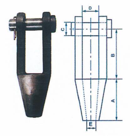 Douilles coniques pour câble métallique