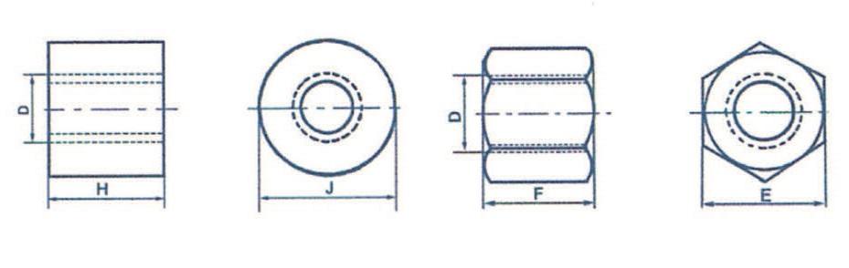 Écrous cylindriques (Bronze)