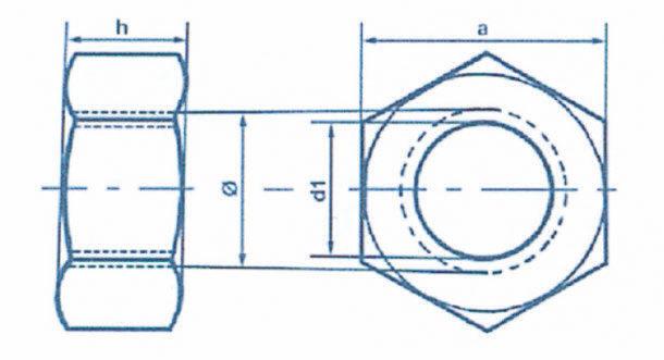 Écrous six pans H (515)