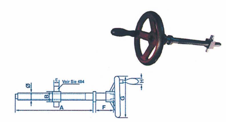 Ensembles de serrage avec volant blanchi et poignée fixe