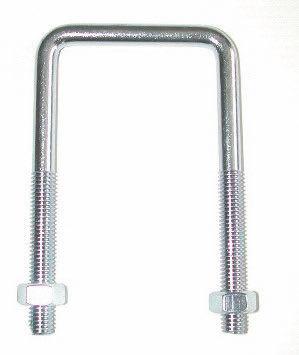 Étriers filetés à fond droit (pour tube carré)