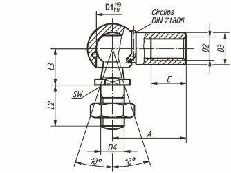 Rotule forme CS - DIN 71802