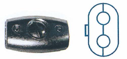 Serre-câbles ovales